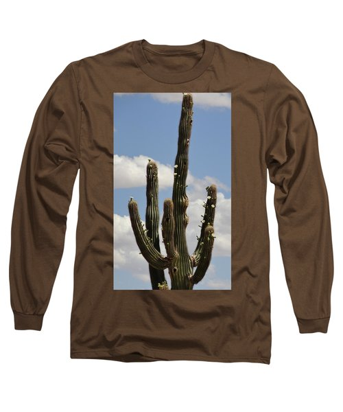 Budding Saguaro Cactus Babies Long Sleeve T-Shirt