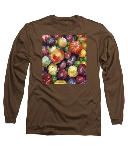 Long Sleeve T-Shirt featuring the painting Bumper Crop Of Heirlooms by Anne Gifford