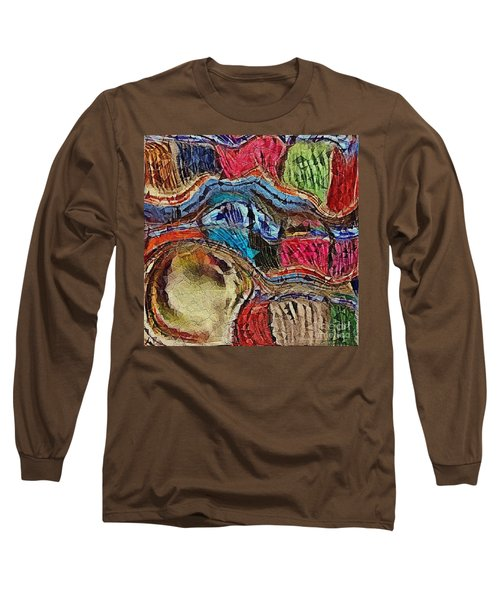 Bumps In The Road Long Sleeve T-Shirt by Kathie Chicoine