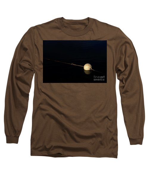 Long Sleeve T-Shirt featuring the photograph Buoy At Night by Stephen Mitchell