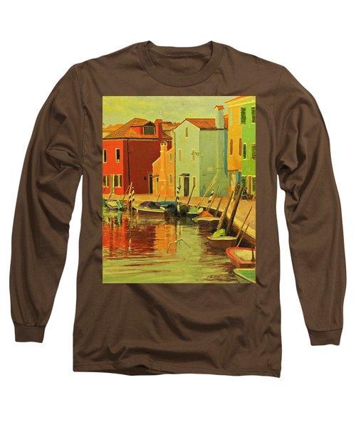 Burano, Italy - Study Long Sleeve T-Shirt