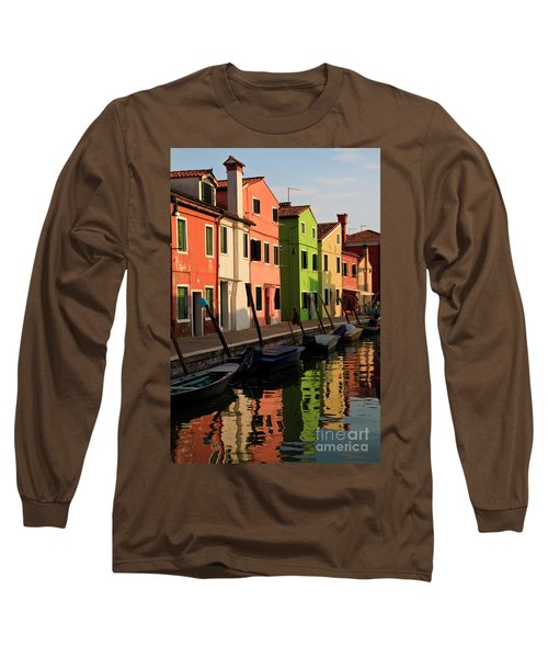 Long Sleeve T-Shirt featuring the photograph Burano Reflections by Dennis Hedberg