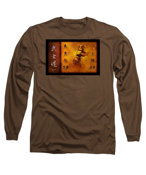 Long Sleeve T-Shirt featuring the digital art Bushido Way Of The Warrior by John Wills