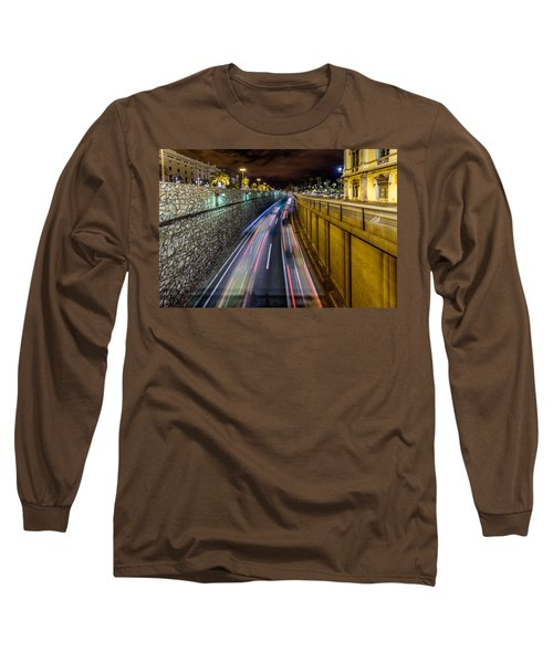 Busy Night In Barcelona Long Sleeve T-Shirt