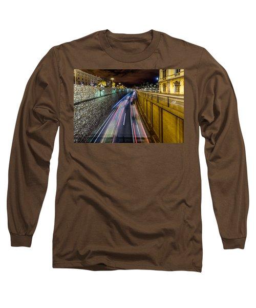 Busy Night In Barcelona Long Sleeve T-Shirt