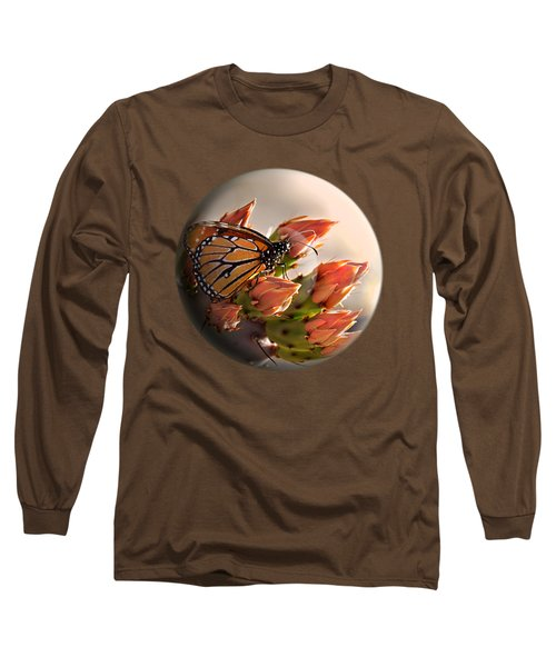 Butterfly In A Globe Long Sleeve T-Shirt