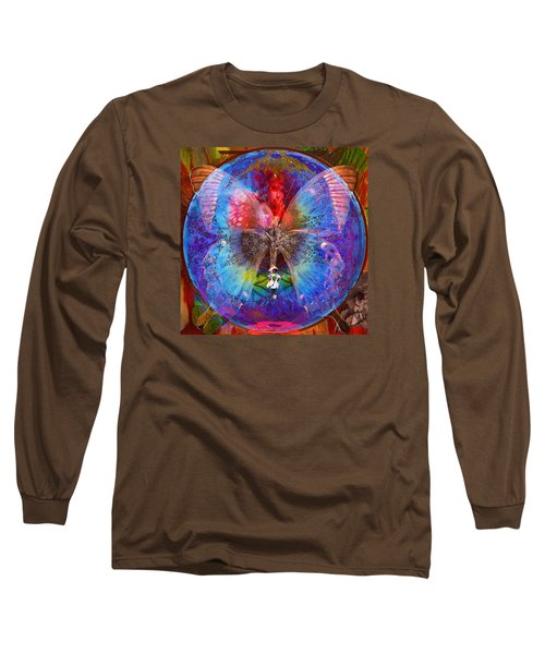Butterfly Sisterly City Love Long Sleeve T-Shirt by Joseph Mosley