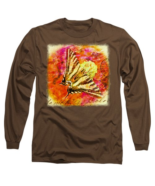 Butterfly T - Shirt Print Long Sleeve T-Shirt by Debbie Portwood