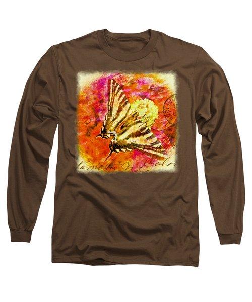 Butterfly T - Shirt Print Long Sleeve T-Shirt