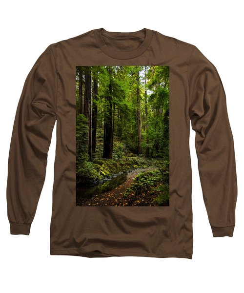 By The Stream In Muir Woods Long Sleeve T-Shirt