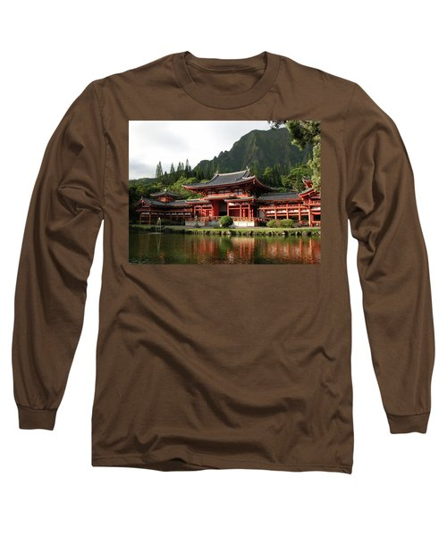 Long Sleeve T-Shirt featuring the photograph Byodo-in Temple, Oahu, Hawaii by Mark Czerniec