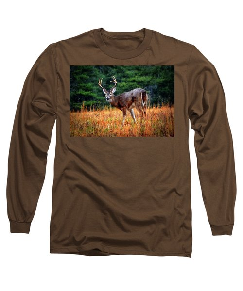 Cades Cove - The Buck Stopped Here 002 Long Sleeve T-Shirt by George Bostian