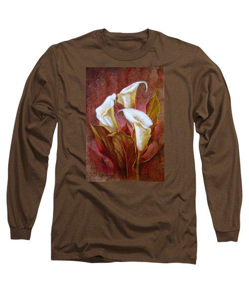 Cala Lillies Bouquet Long Sleeve T-Shirt