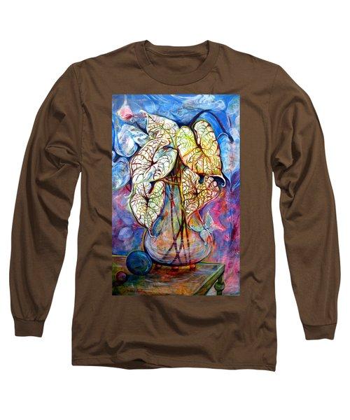 Caladium Glass Creation Long Sleeve T-Shirt