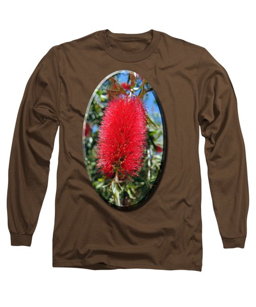 Callistemon - Bottle Brush T-shirt 2 Long Sleeve T-Shirt by Isam Awad
