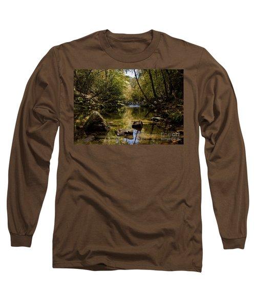 Long Sleeve T-Shirt featuring the photograph Calmer Water by Douglas Stucky