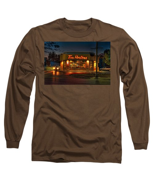 Calories And Caffene Long Sleeve T-Shirt
