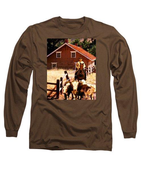Calves Long Sleeve T-Shirt by Timothy Bulone
