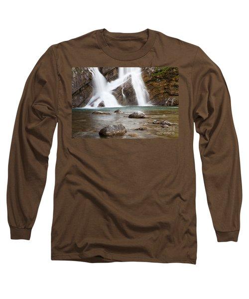 Cameron Falls In Waterton Lakes National Park Long Sleeve T-Shirt