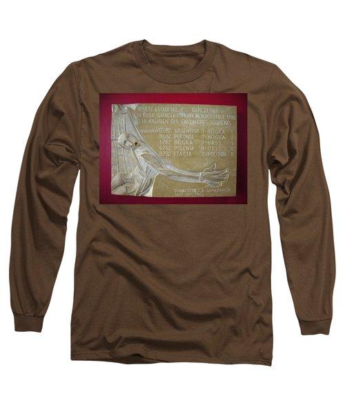 Long Sleeve T-Shirt featuring the photograph Camp Nou 1982 by Juergen Weiss