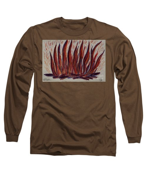 Campfire Flames Long Sleeve T-Shirt by Theresa Willingham