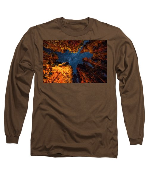 Camping Under The Stars  Long Sleeve T-Shirt by Alpha Wanderlust