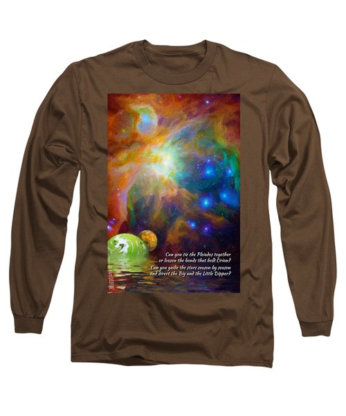 Can You Tie The Pliades Together? Long Sleeve T-Shirt by Chuck Mountain