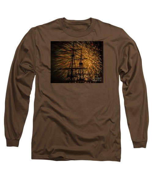 Long Sleeve T-Shirt featuring the photograph Canal Day Fireworks Finale by JT Lewis