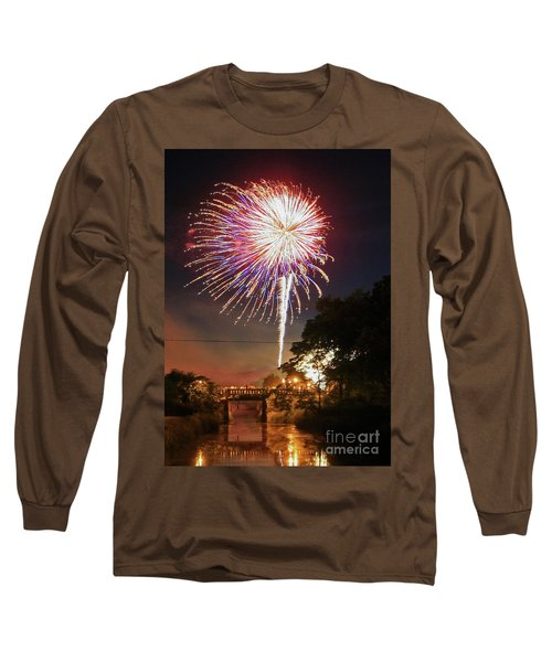 Canal View Of Fire Works Long Sleeve T-Shirt