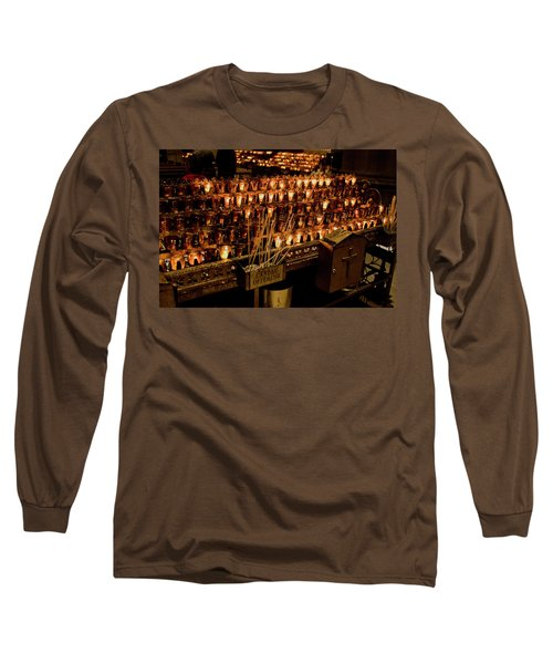 Candle Offerings St. Patrick Cathedral Long Sleeve T-Shirt