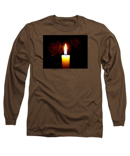 Candlelight And Roses Long Sleeve T-Shirt by Will Borden