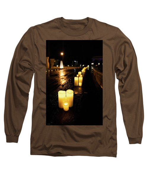 Candles On The Beach Long Sleeve T-Shirt