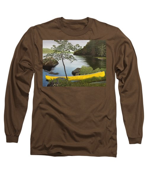 Canoe On The Bay Long Sleeve T-Shirt