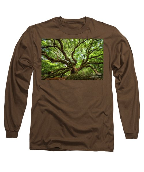 Canopy Of Color At Angel Oak Tree  Long Sleeve T-Shirt by Michael Ver Sprill