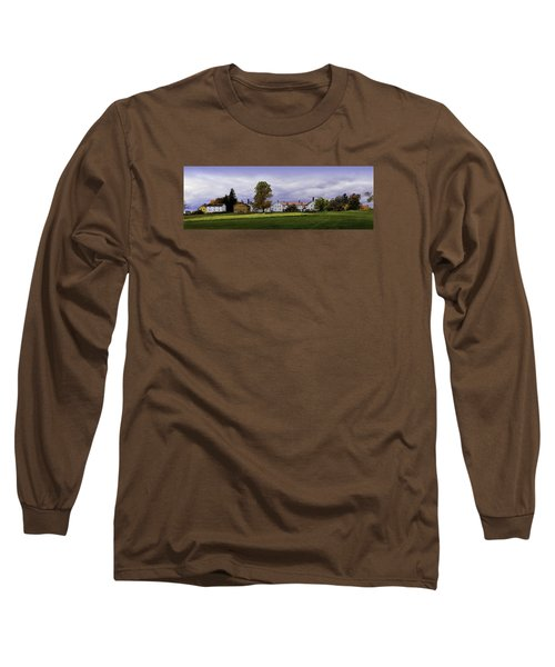 Canterbury Shaker Village Nh Long Sleeve T-Shirt by Betty Denise