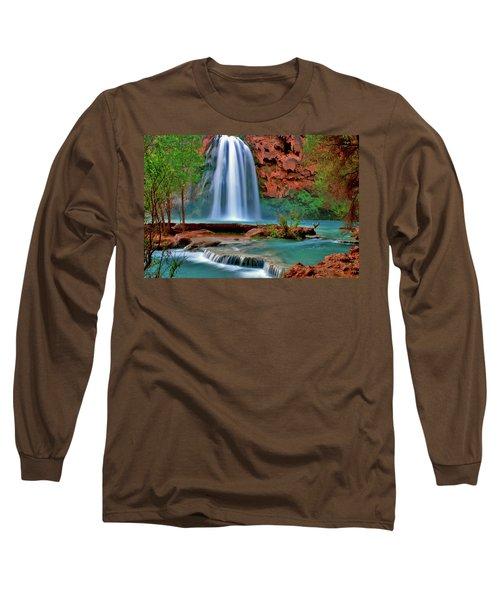 Canyon Falls Long Sleeve T-Shirt by Scott Mahon