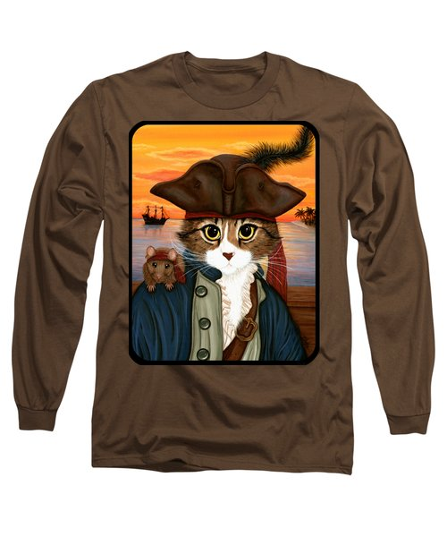 Captain Leo - Pirate Cat And Rat Long Sleeve T-Shirt