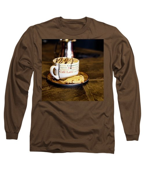 Caramel Macchiato With Scone Long Sleeve T-Shirt