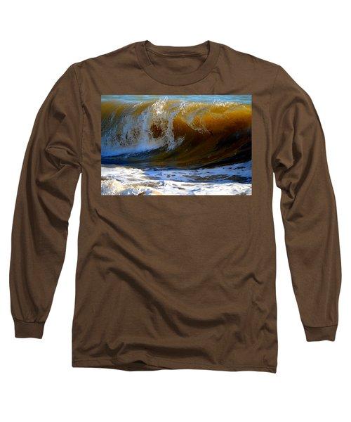 Caramel Swirl Long Sleeve T-Shirt by Dianne Cowen