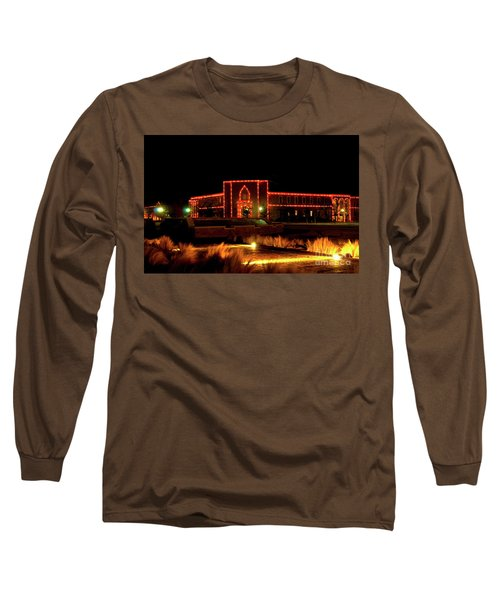 Long Sleeve T-Shirt featuring the photograph Carol Of Lights At Science Building by Mae Wertz