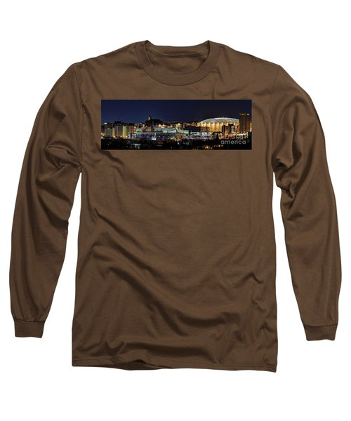 Carrier Dome And Syracuse Skyline Panoramic View Long Sleeve T-Shirt