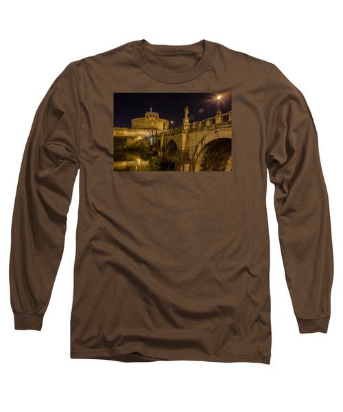 Castel Sant'angelo Long Sleeve T-Shirt by Ed Cilley