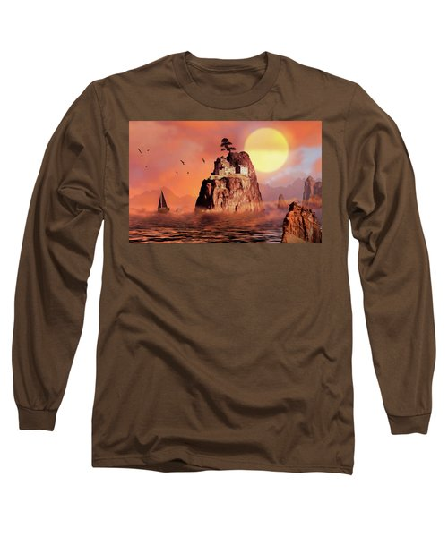 Castle On Seastack Long Sleeve T-Shirt