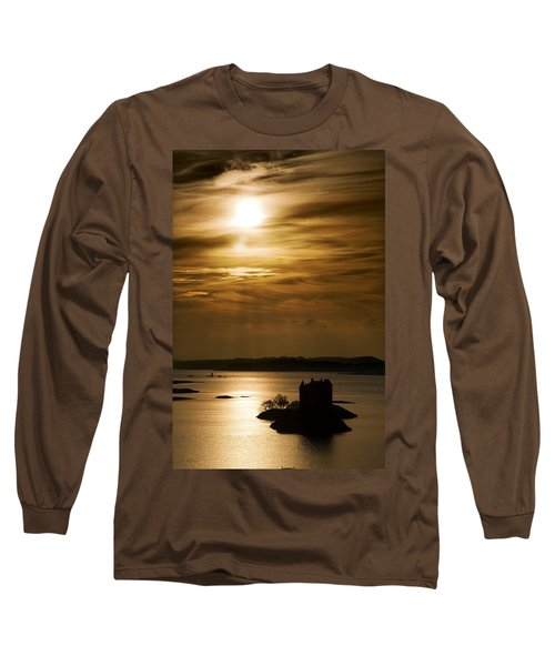 Castle Stalker At Sunset, Loch Laich Long Sleeve T-Shirt