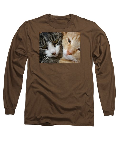 Cat Faces Long Sleeve T-Shirt by Jana Russon