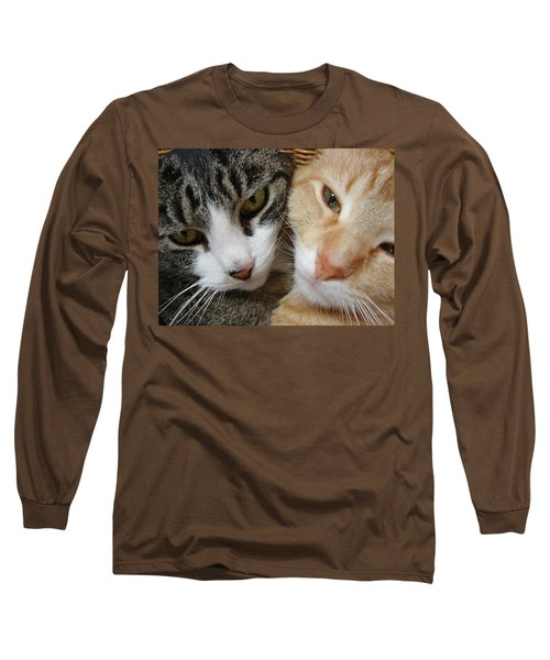 Cat Faces Long Sleeve T-Shirt