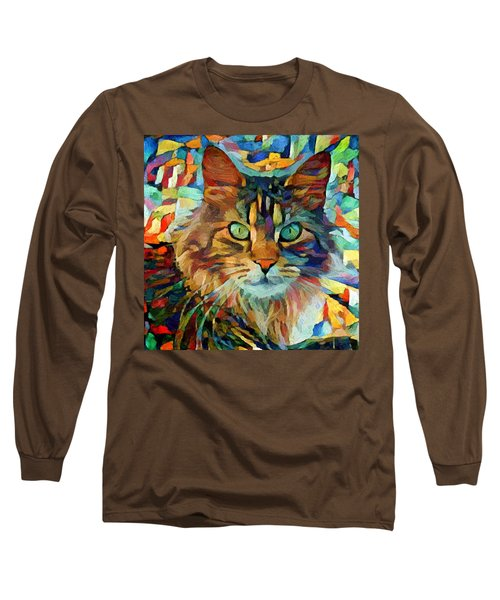 Cat On Colors Long Sleeve T-Shirt