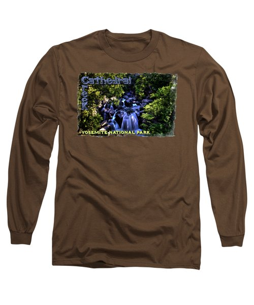 Cathedral Creek Cascade On The Tioga Pass Long Sleeve T-Shirt by Roger Passman
