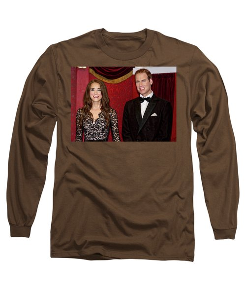 Long Sleeve T-Shirt featuring the photograph Catherine And Prince William by Miroslava Jurcik