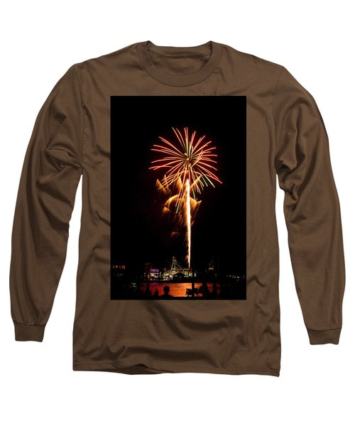 Long Sleeve T-Shirt featuring the photograph Celebration Fireworks by Bill Barber